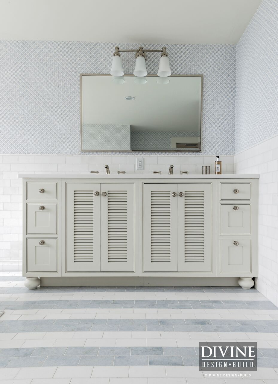 Coastal Gray and White Bathroom Design Ideas — Divine Design+Build
