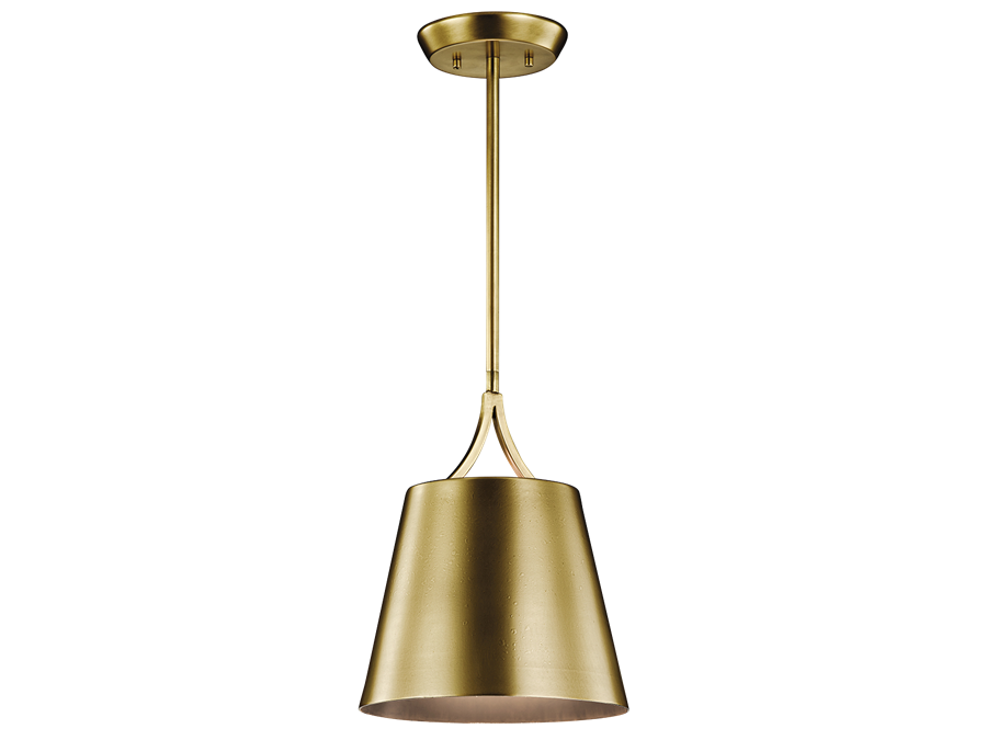 Maclain 1 Light Mini Pendant in Natural Brass