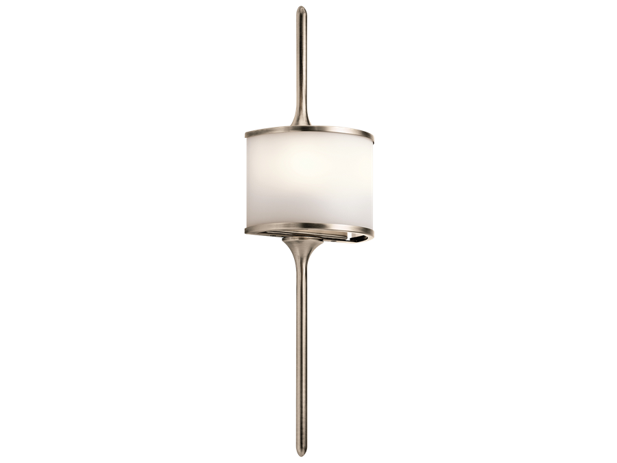 Mona 2 Light Halogen Wall Sconce in Classic Pewter