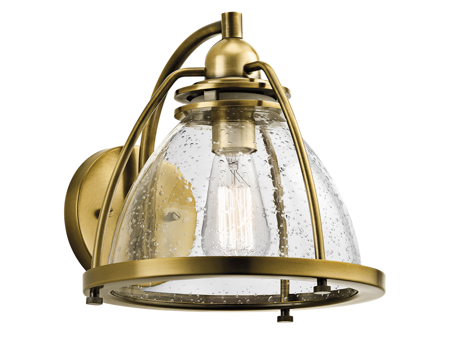 Silberne Collection 1 Light Wall Sconce in Natural Brass