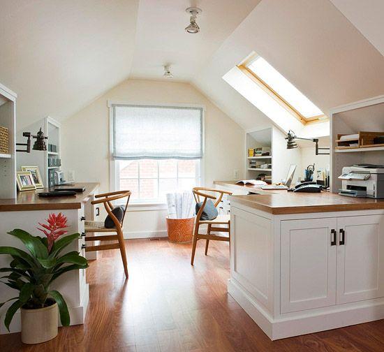 attic office space - bhg