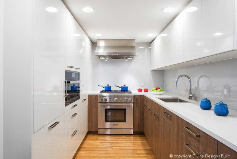 Add color to neutral kitchen 1