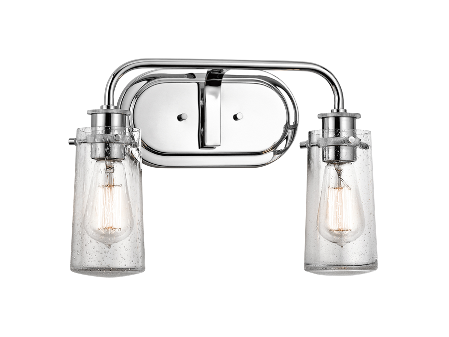 Braelyn Collectio 2 Light Bath Light Polished Nichel