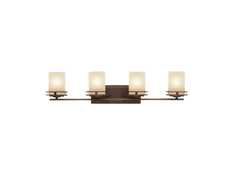 Henrick 4 Light Bath Light in Oil Rubbed Bronze