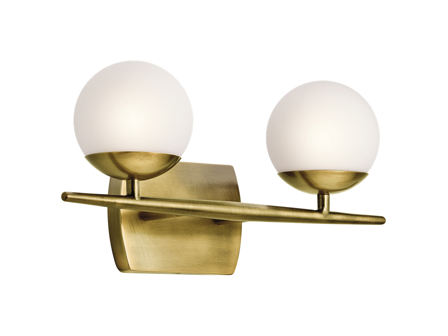 Kichler Jasper Collection Vanity Light Brass