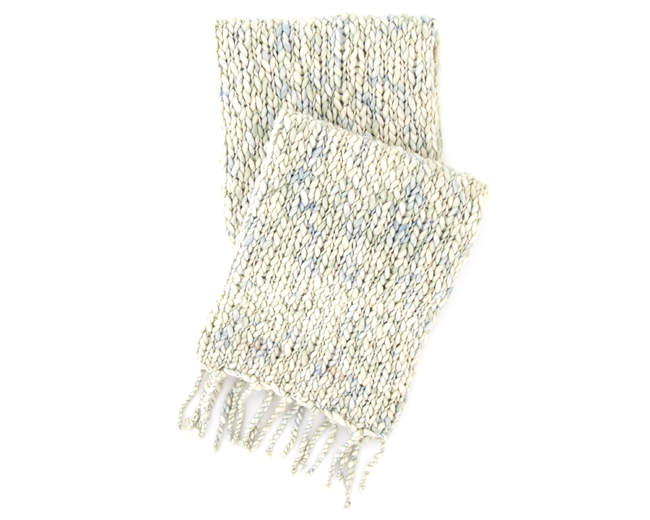 chunky knit throw - coastal new england interior design