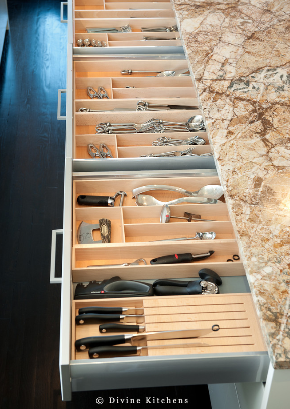 kitchen drawer storage ideas -houzz