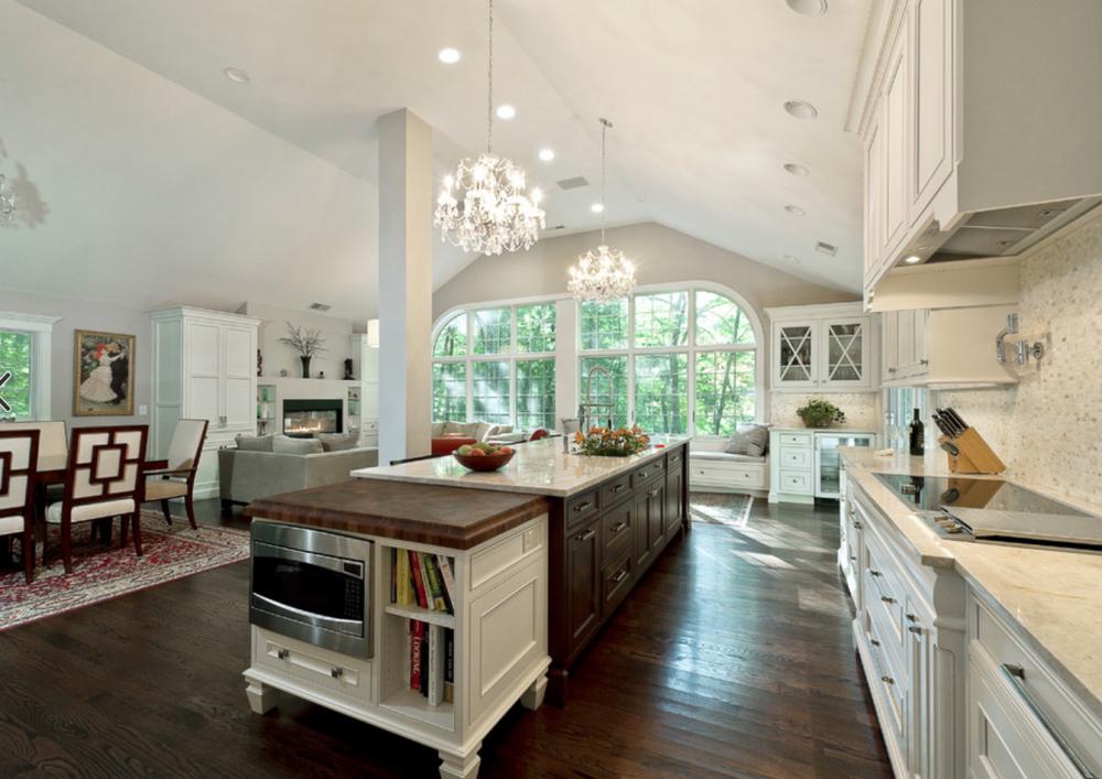 two tone kitchen cabinets white - espresso