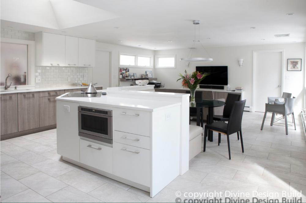 modern kitchen design in lexington