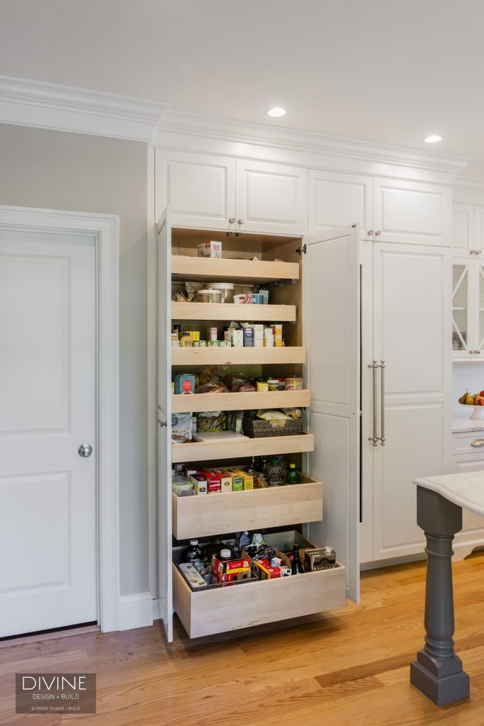 kitchen renovation- pull out pantry
