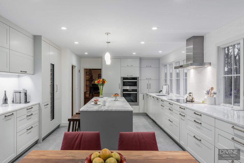 White And Gray Kitchen Design Inspiration Divine Design Build