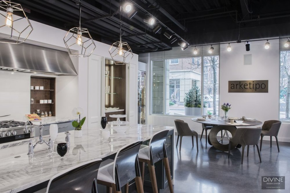 modern furniture showroom boston