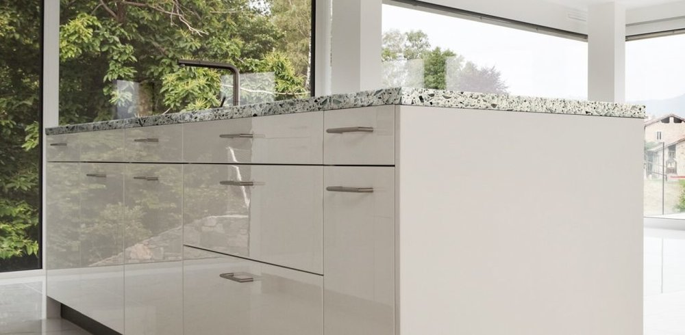 eco-friendly vetrazzo kitchen countertops