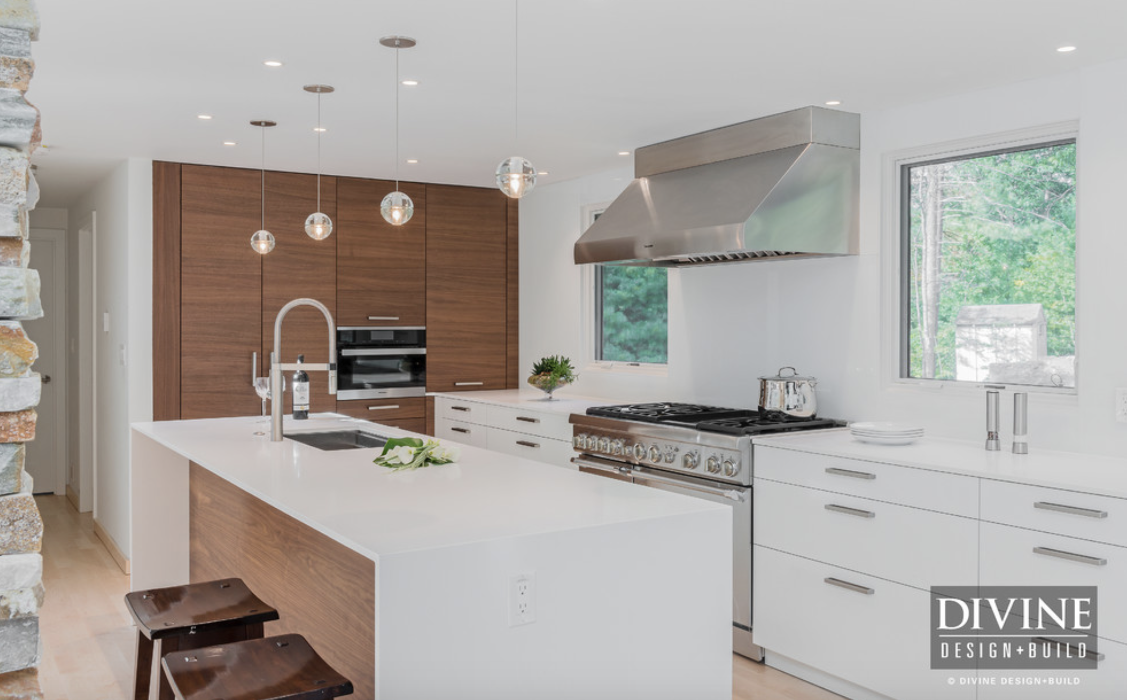 Contemporary White Wood Kitchen Tour Divine Designbuild