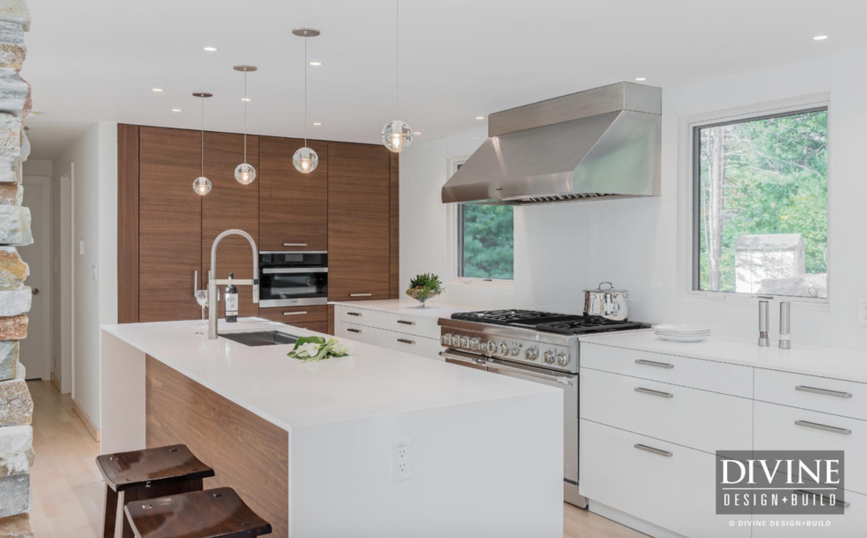 Contemporary White Wood Kitchen Tour Divine Design Build