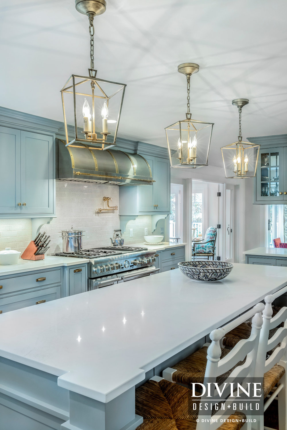 Cape Cod Traditional Kitchen with Gold Copper Accents — Divine ...