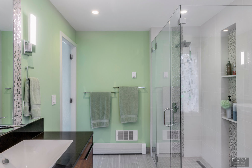 Green Granite Showers : Corner tile shower marble or granite shelves in your tiled