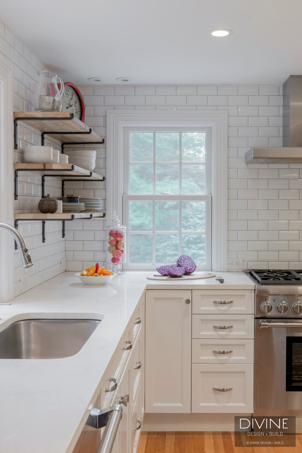 Boston Wellesley Transitional Kitchen — Divine Design+Build