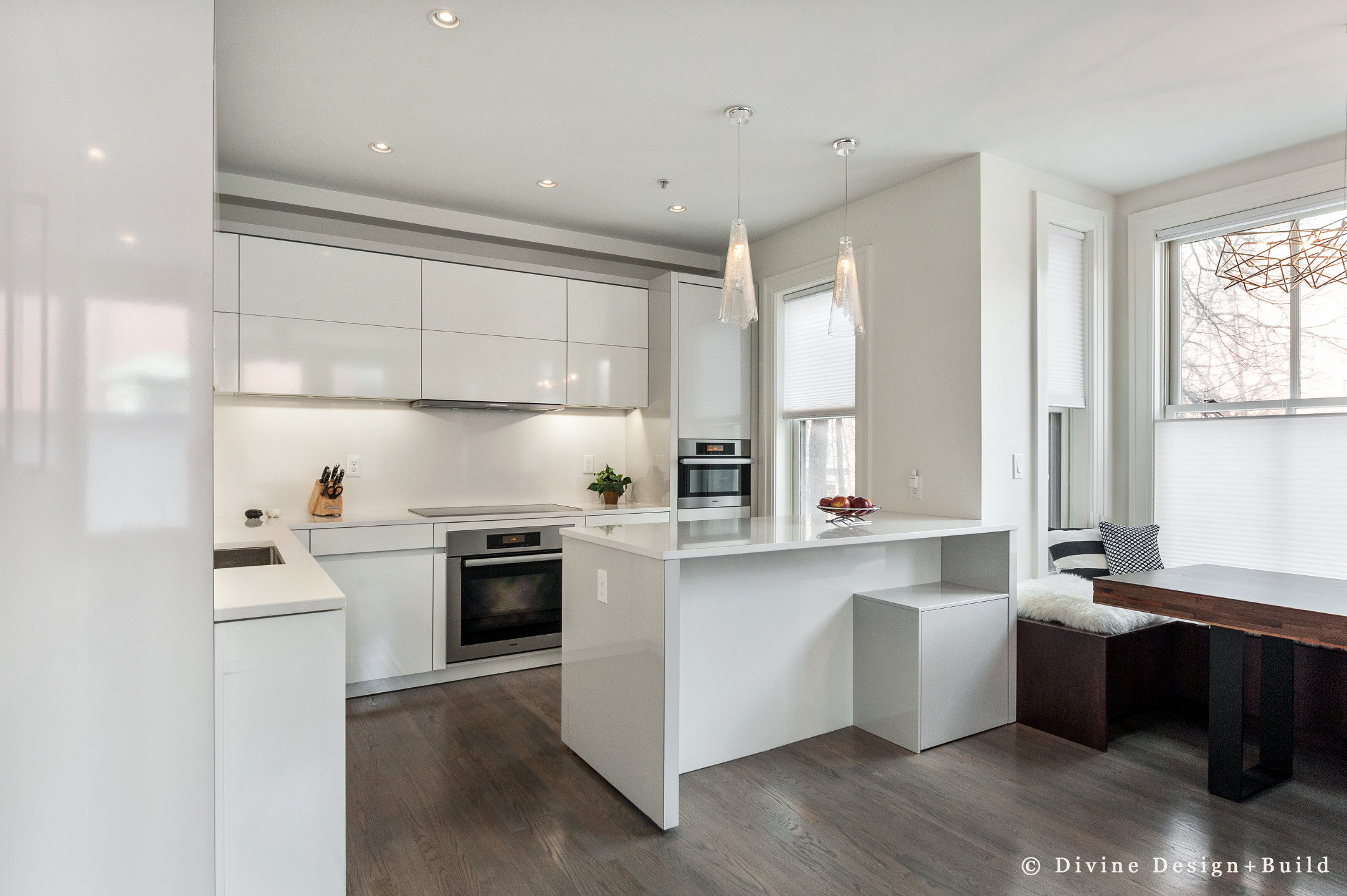 Boston South End Modern Leicht Kitchen And Library Glass