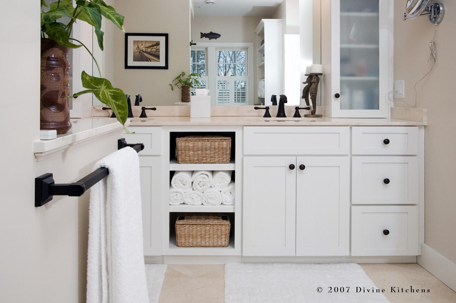 Cape Cod Transitional Traditional Master Bathroom — Divine Design+Build