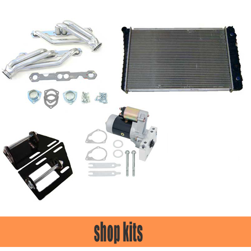 S10 V8 Conversion Kits   We have a selection of kits for Small block and LSX conversion as well as 4WD.