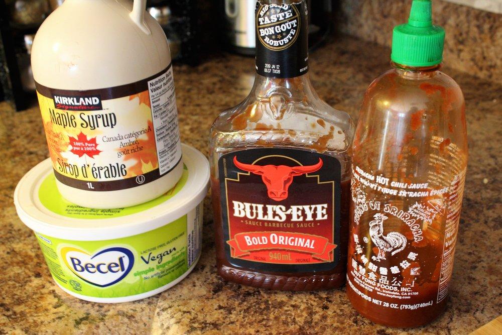 Easy spicy maple BBQ roasted cauliflower