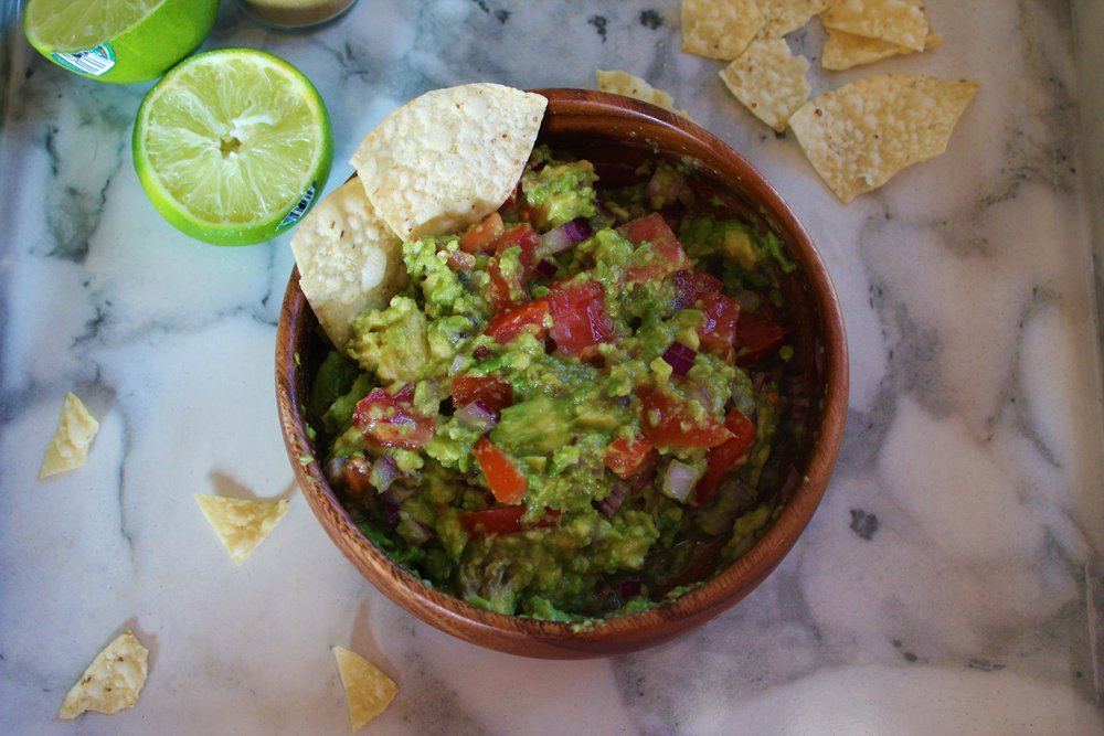 I don't really know how to photograph guac to make it look pretty, it just kind of looks like a mess but I swear it tastes great!