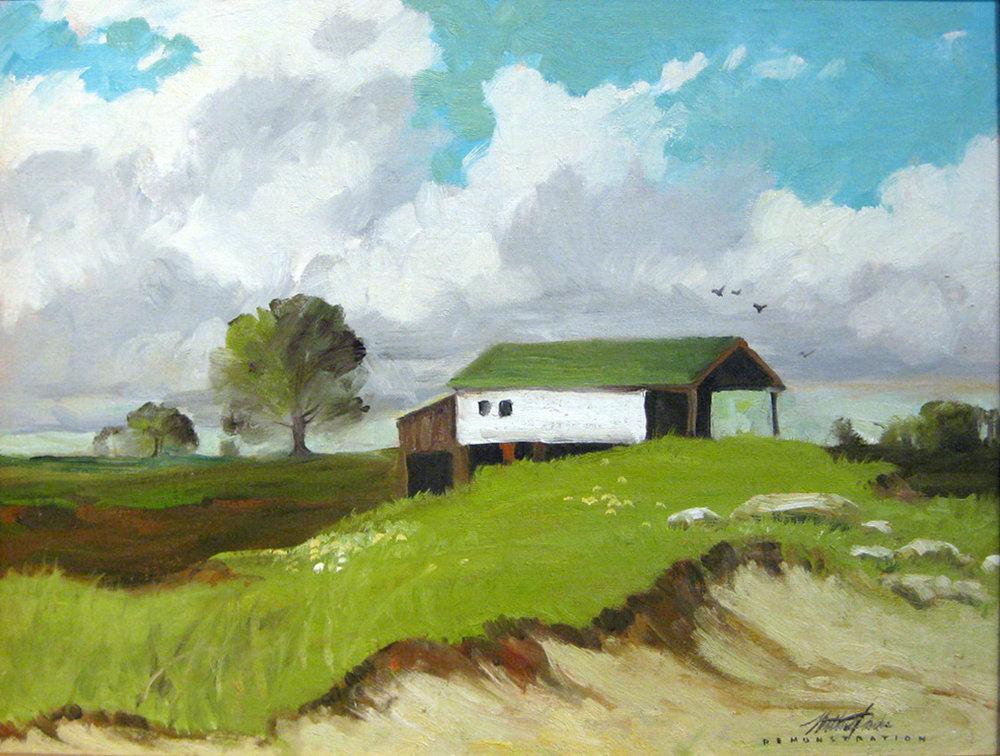 Parke, Walter - Barn Scene (framed)