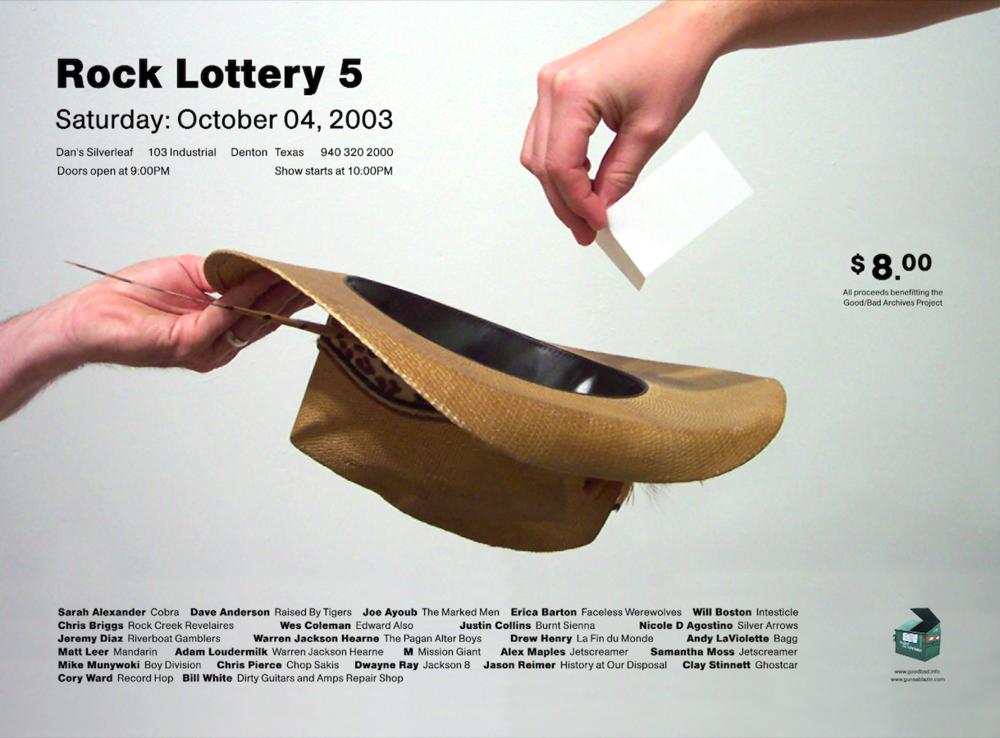 Rock Lottery 5 Flyer