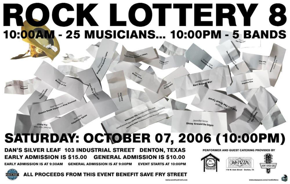Rock Lottery 8 Flyer
