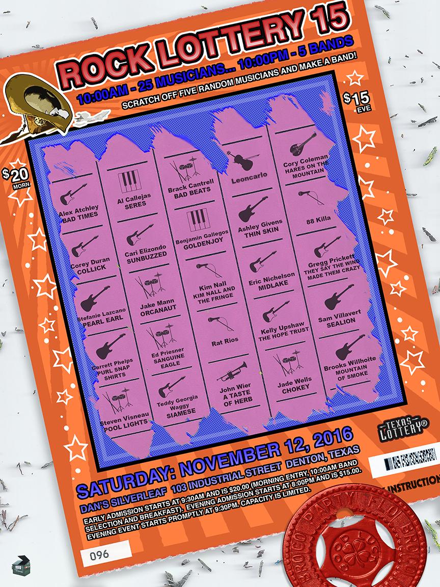 Rock Lottery 15 Flyer