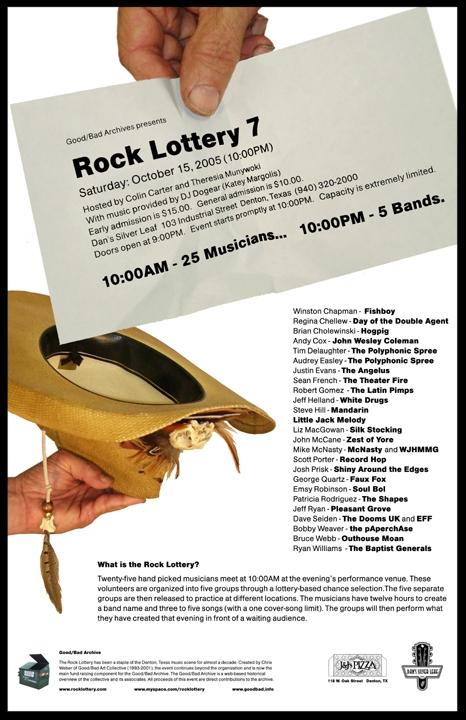 Rock Lottery 7 Flyer