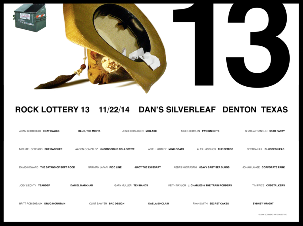 Rock Lottery 13 Flyer