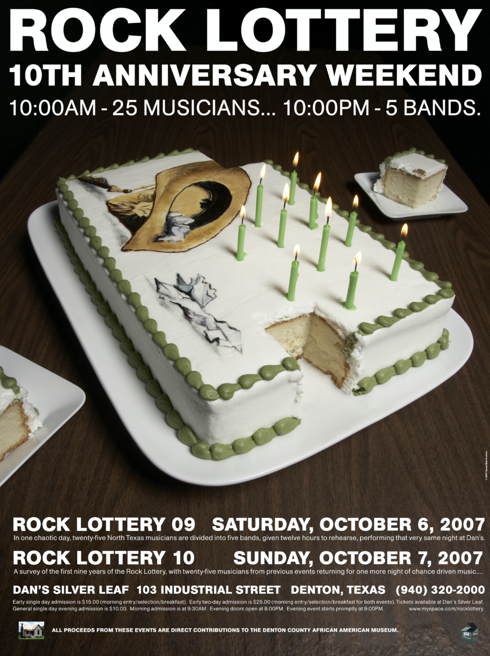 Rock Lottery 10th Anniversary Poster