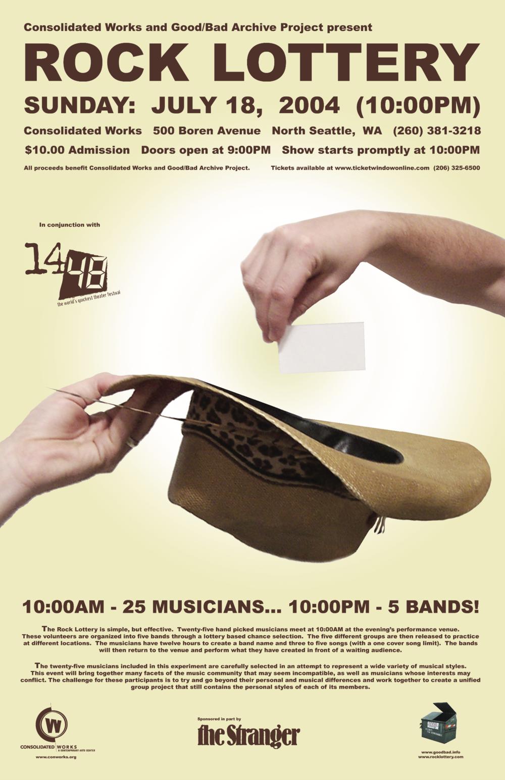 Seattle Rock Lottery 1 Poster