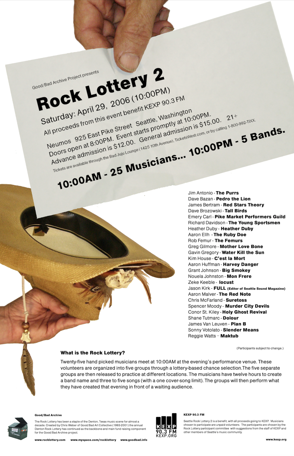 Seattle Rock Lottery 2 Poster