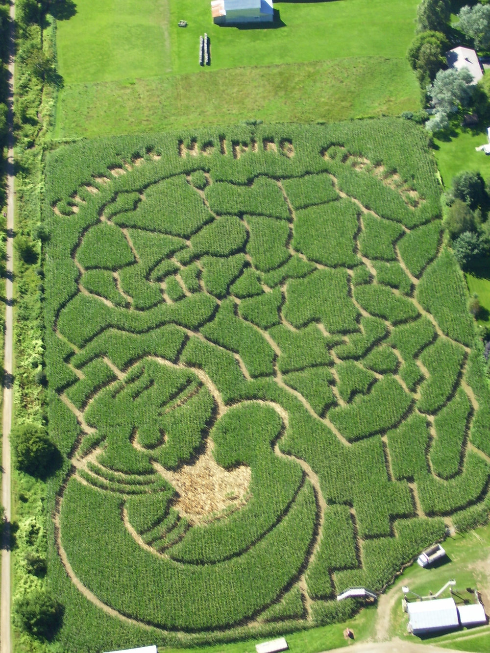 2006: Grannies Helping Grannies  Our 2006 maze featured the African continent with the logo created by the Go Go Grannies in Creston, B.C. to support the Grandmothers to Grandmothers campaign. This Stephen Lewis Foundation initiative encourages Canadian grandmothers to unite and support their African peers who are now left with the responsibility of raising their grandchildren as a result of the AIDS pandemic in Africa. Hunter Brothers Farm donated a portion of their maze proceeds to this cause and encouraged maze adventurers to do the same.