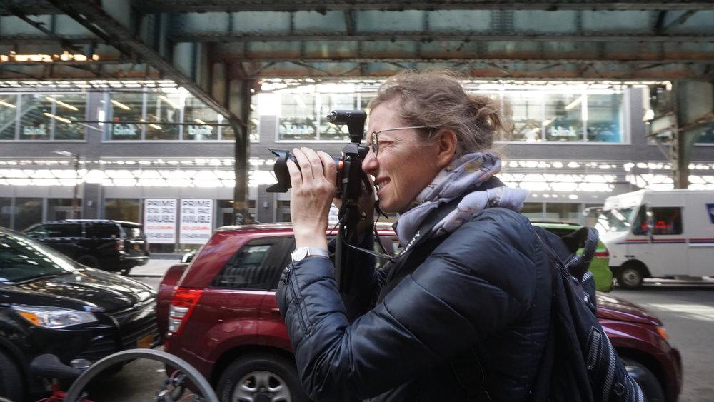 Jennifer Alleyn en tournage © Cherryl Dunn.JPG