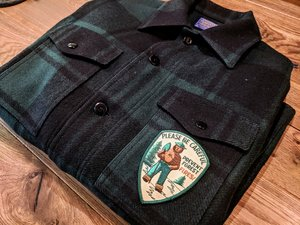 306eb195f4d1b Pendleton Mackinaw Jacket with Smokey Bear patch Vintage Pendleton with  Vintage Smokey Bear patch