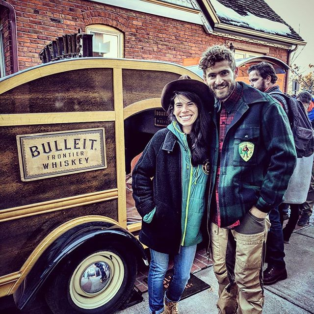 Just goofin around at the Bulleit-mobile outside @meatandcheeseaspen -- Couple of good photos from our trip visiting @agoodphotographer + @blakely_r for a fantastic weekend of skiing and watching @thesteeldrivers crush it at the @wheeleropera up in Asssspen!! Such a great weekend spending time with this lovely gal @ambroscini and good friends, and the beautiful backdrop of Aspen, Colorado!  Grateful for fun mountain getaways with good friends!  Pumped for the #denverflea market this weekend down at the RiNo Parking Garage right by Coors Field.  Come check out @thisisfetch first officially rebranded market along with 💯+ amazing vendors, live music, and amazing products!  Happy Tuesday Squad 💪  #vintageclothing  #vintage  #bulleitbourbon  #drinkwhiskey #visitaspen #aapencolorado #meatandcheese #mountaintown #mountainadventures  #coloradoclothing  #coloradobrand  #clothingboutique  #smokeythebear  #vintageflannel  #customshirts  #oneofakind  #patchwork  #patchedperfection  #lovemyjacket  #lovemylife