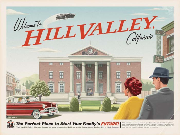 Hill Valley by Eric Tan. Inspired by Back to the Future.