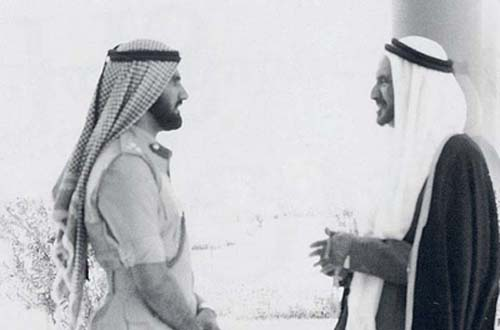 Image from Gulf News: Sheikh Mohammad was appointed head of Dubai Police and Security in 1968 and UAE Minister of Defence after the federation was founded in 1971.
