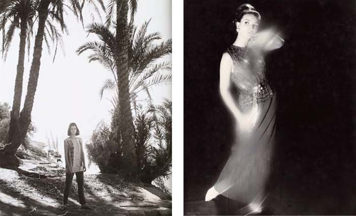 © Norman Parkinson Left: Queen Magazine, The Wilder Shores of Sheik, 1963 Right: Queen Magazine, December 1963, Jean Shrimpton wearing Dior
