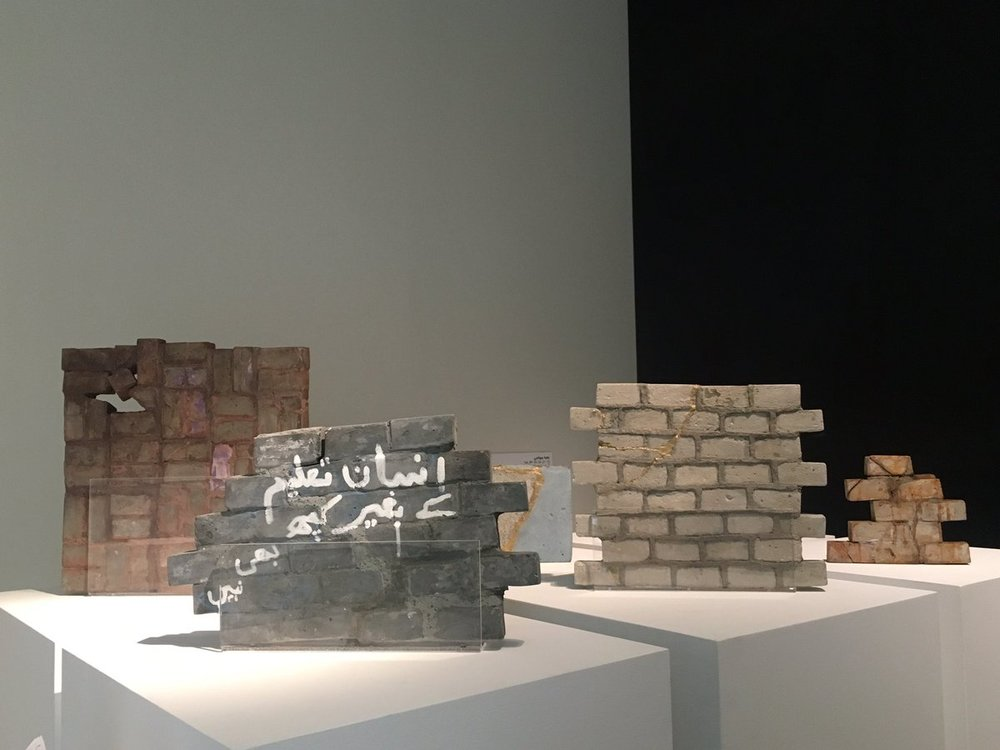 Zahra Jewanjee 's work looks at marginalised societies, gender, geometry, chaos and order.