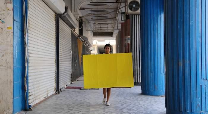 Dana Al Jouder - Blocks | Acrylic, Cardboard, video | 4:3min
