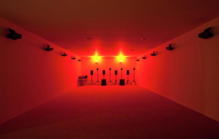 Hassan Khan - Dom Tak Tak Dom Tak, light & sound installation (2005)