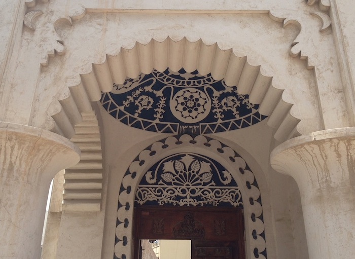 One of the buildings in the Heritage Area that is getting restored, it is dated 1363 HIjri (Islamic) Calendar,around 1943 Gregorian calendar