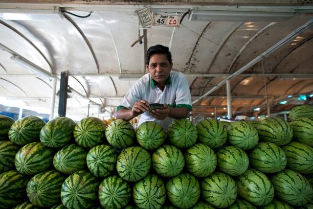 © Katarina Premfors - Melons at Market - Dubai, UAE 2008