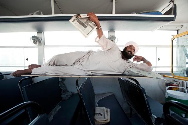 © Katarina Premfors - Resting Bus Driver - Dubai, UAE 2009