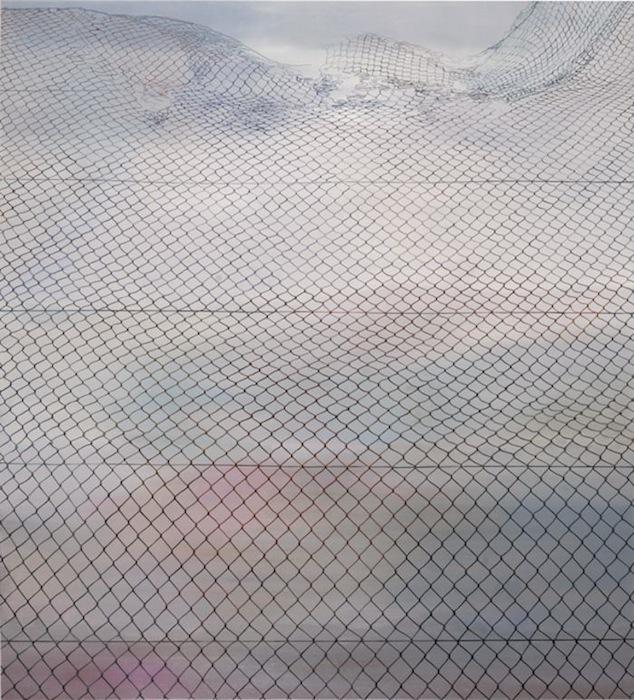 Over the fences, 2010. 200x180cm oil on canvas